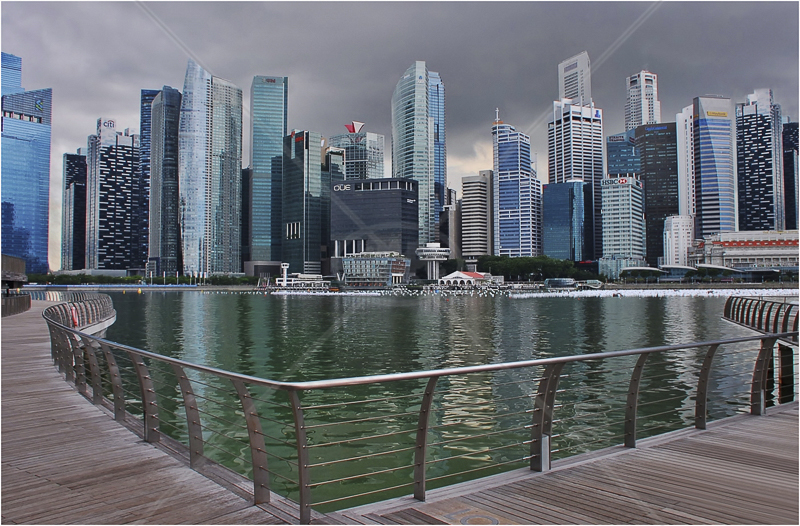 Approaching Storm, Singapore Harbour by Andy Udall - 1st (Int)