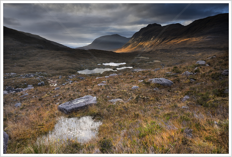 Last Light on Ben Alligin by Jon Baker - C (Print)