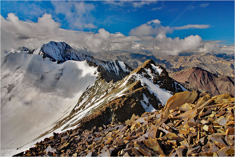 Fear - the Summit Ridge, Ladakh, India by Andy Udall - HC (PDI)