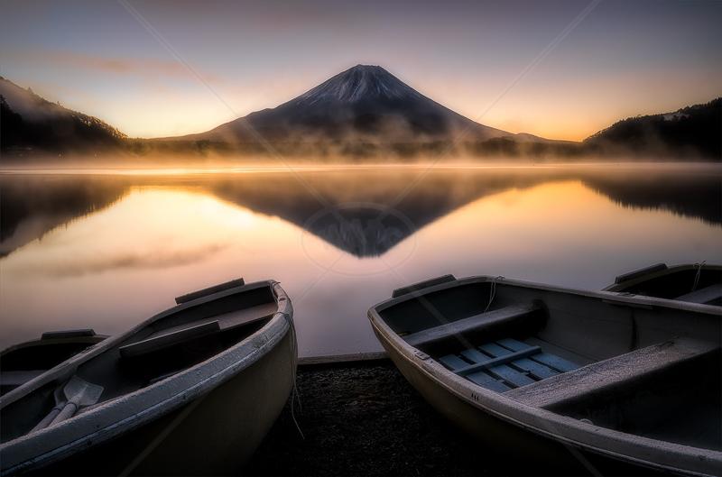 Morning Mist on Lake Shojiko by Calvin Downes - C (Adv)