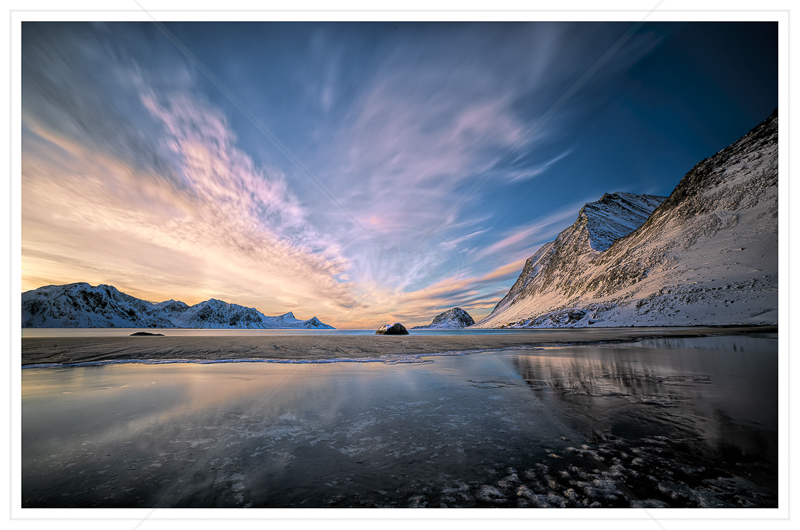 Haukland Sunset by Calvin Downes - Print - 3rd