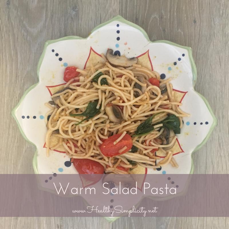 Warm Salad Pasta