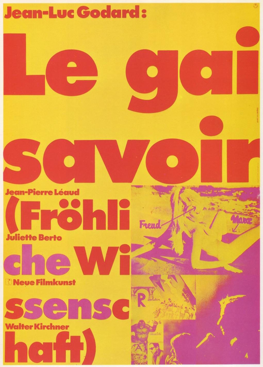Hans Hillman, poster, Le Gai Savoir, 1969