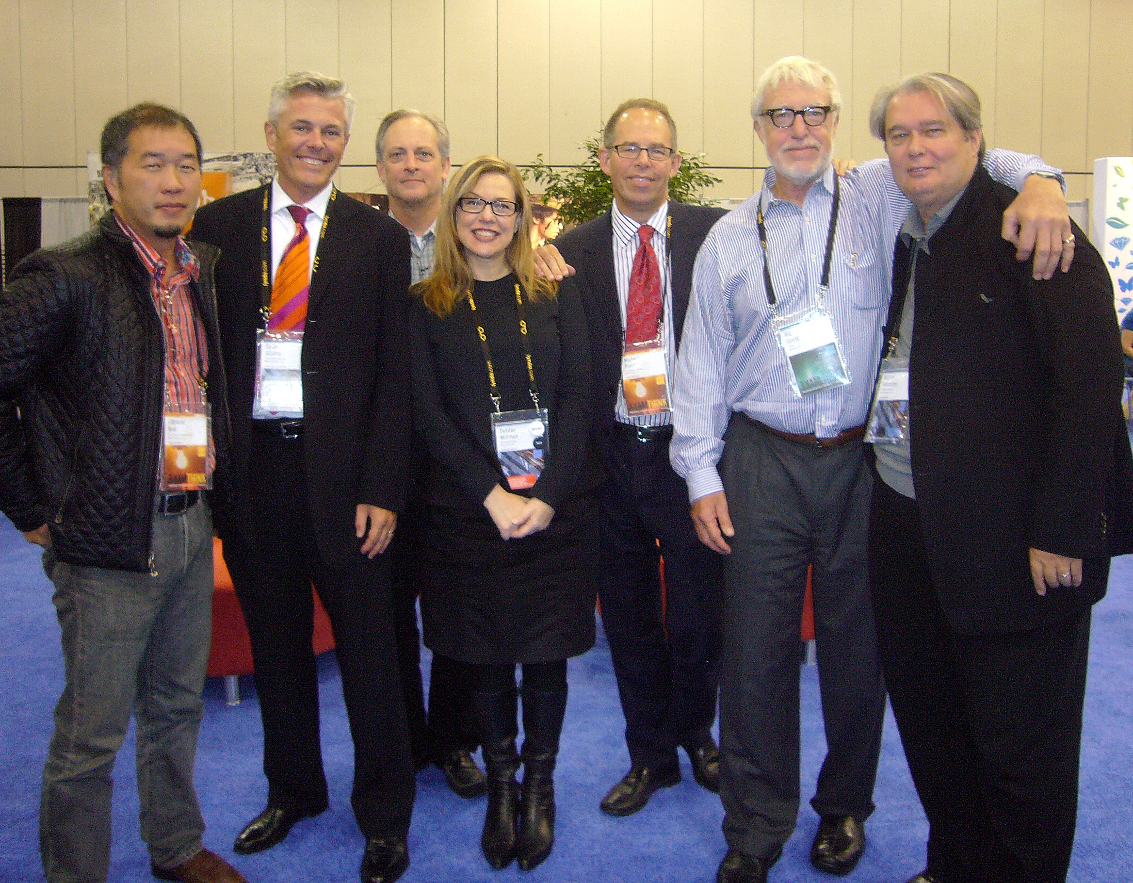 AIGA Presidents, L-R: Clement Mok, Sean Adams, Bill Drenttel, Debbie Millman, Michael Bierut, Ric Grefé (Executive Director), Michael Vanderbyl, 2009