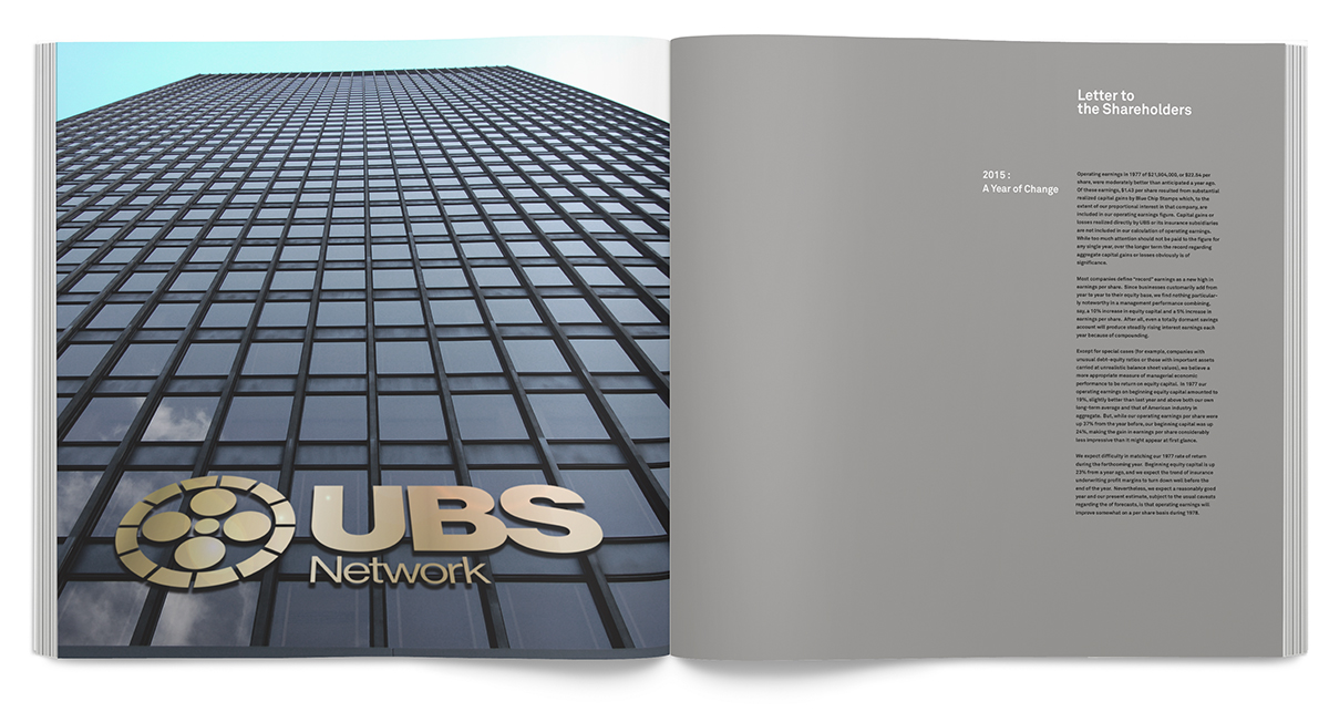 Blunt Talk, UBS Annual Report