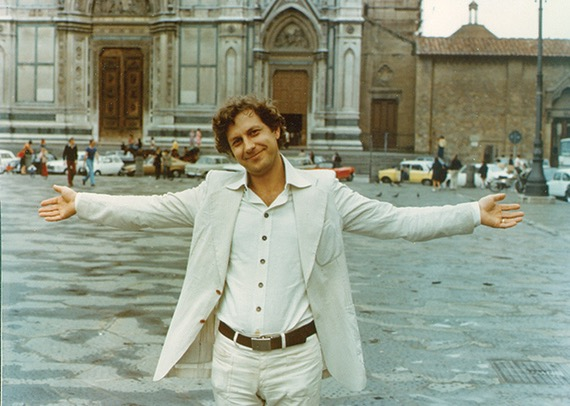 John Alcorn in Santa Croce, 1973 (Courtesy of Stephen Alcorn)