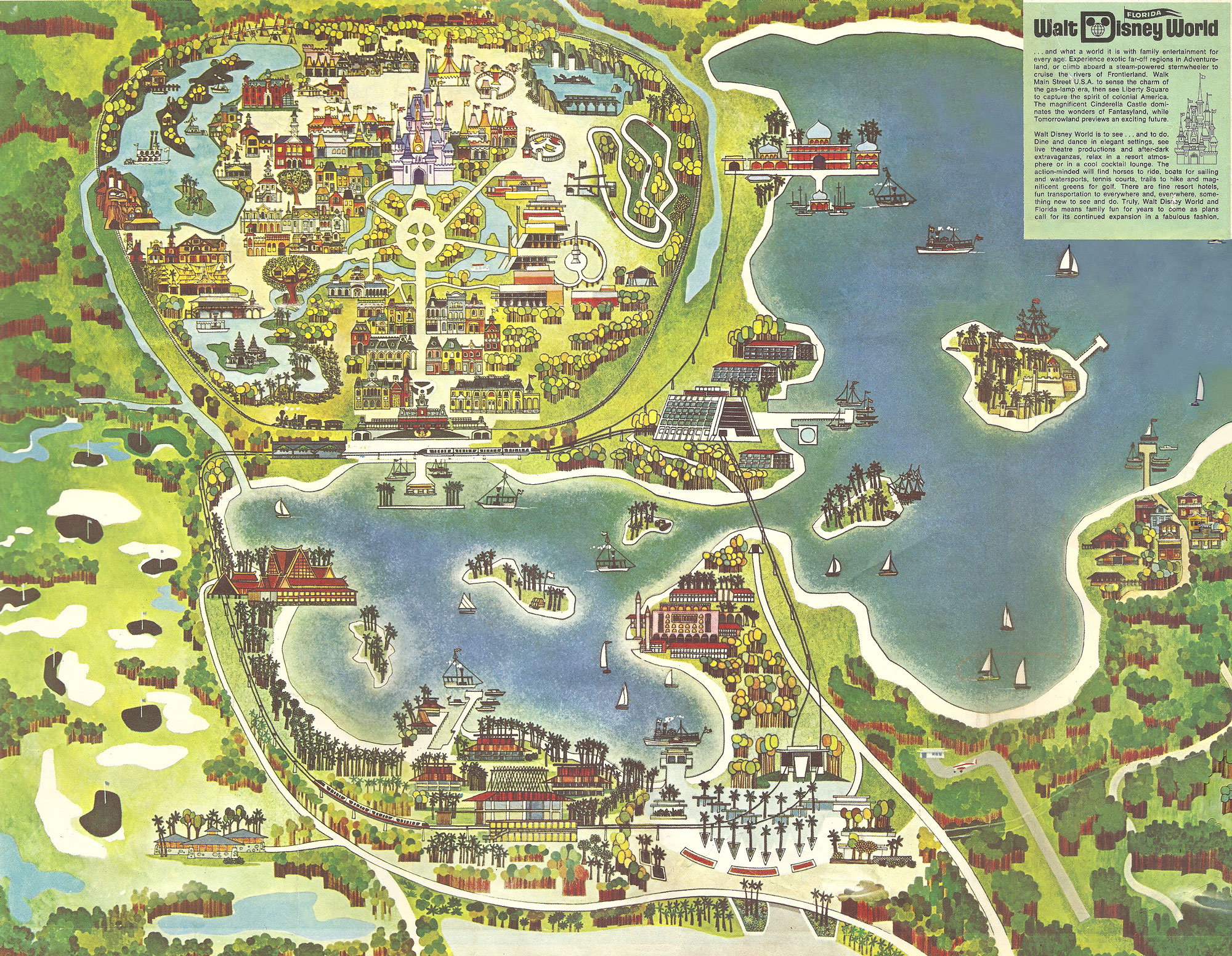 Walt Disney World Map
