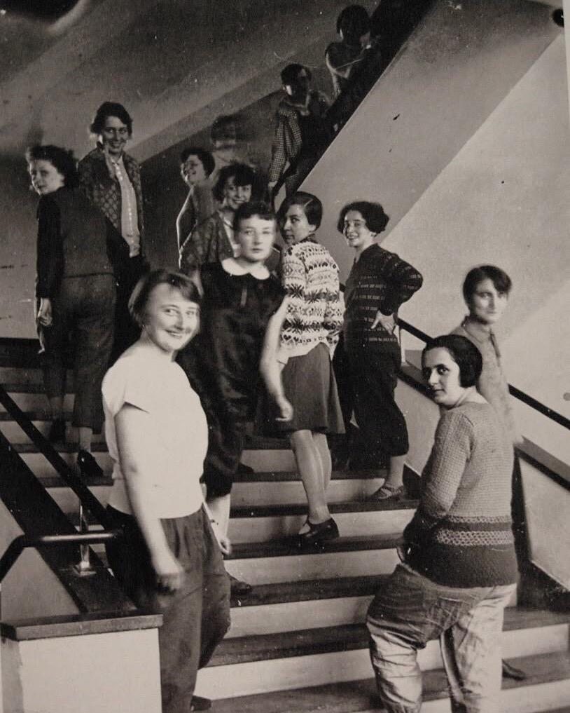 Oskar Schlemmer, Bauhaus Stairway, 1932.jpg