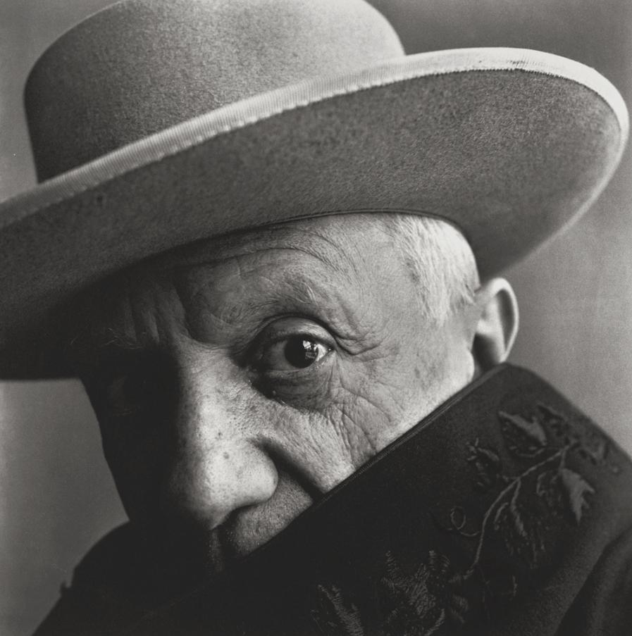 Portrait of Pablo Picasso at La Californie, Cannes, by Irving Penn, 1957