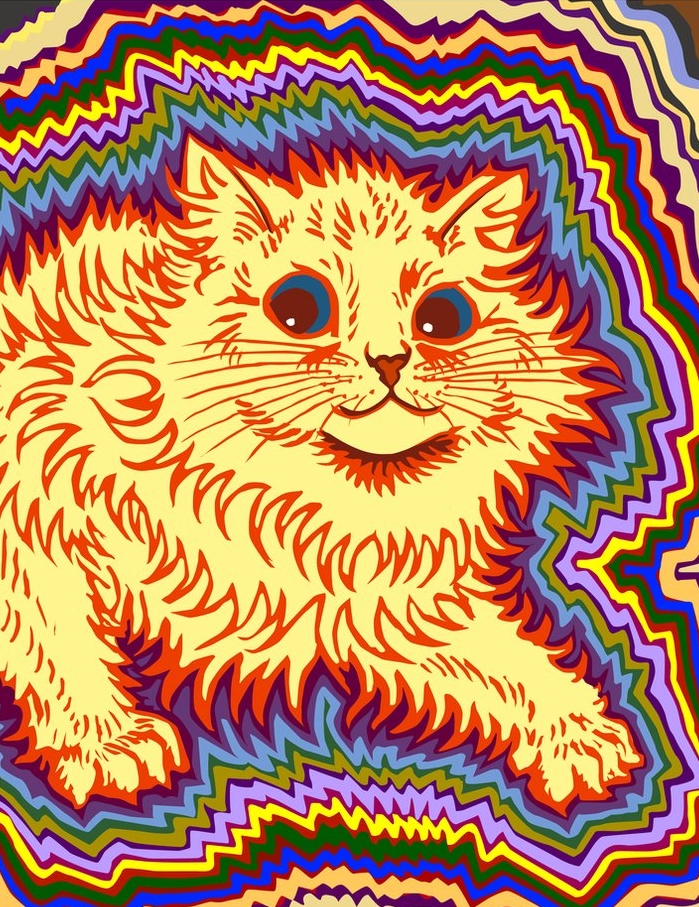 t  hredith ,  Louis Wain Tribute - Kaleidoscope Cat 3: Electric