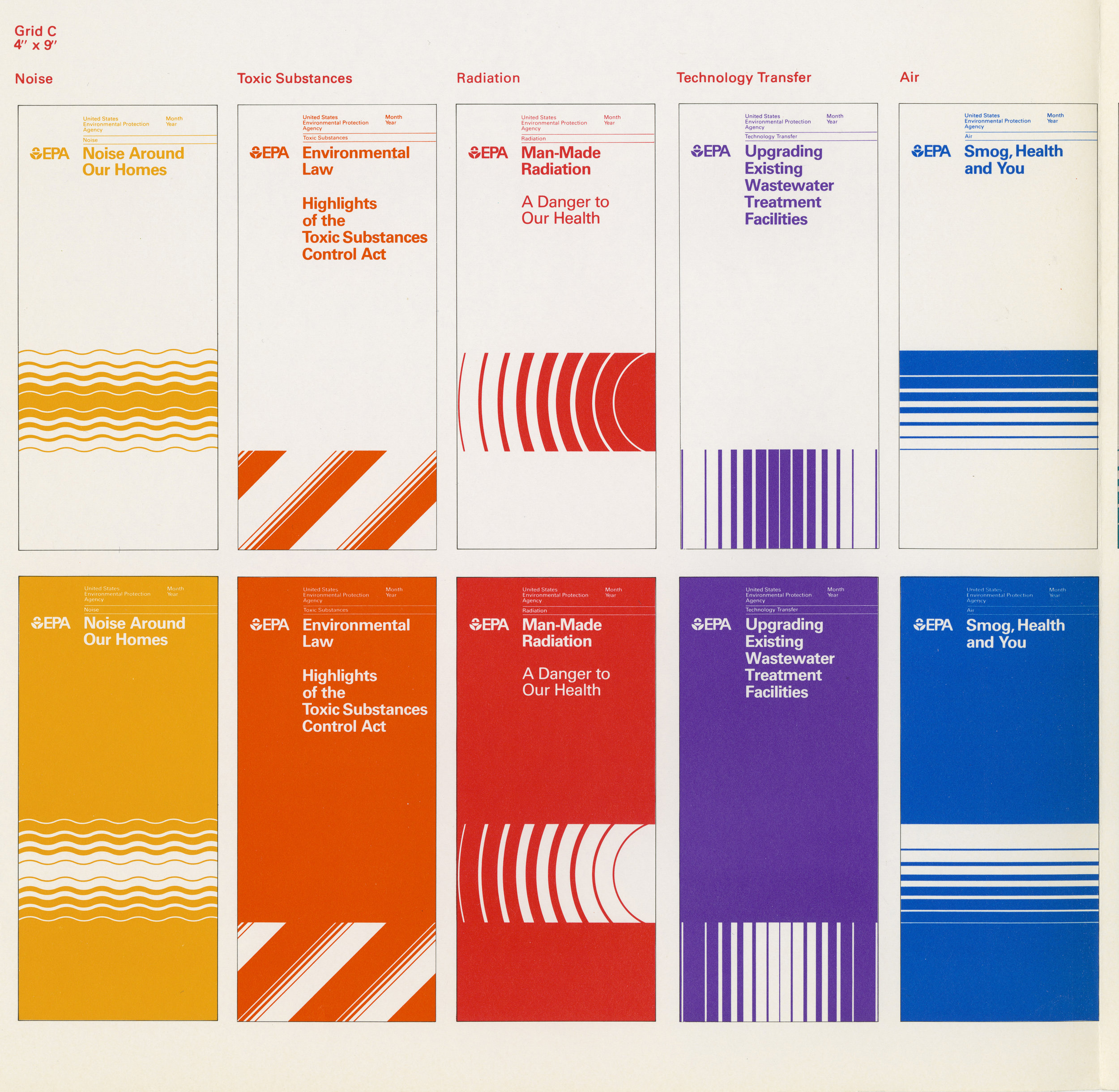 Environmental Protection Agency identity system and manual Chermayeff and Geismar, 1977