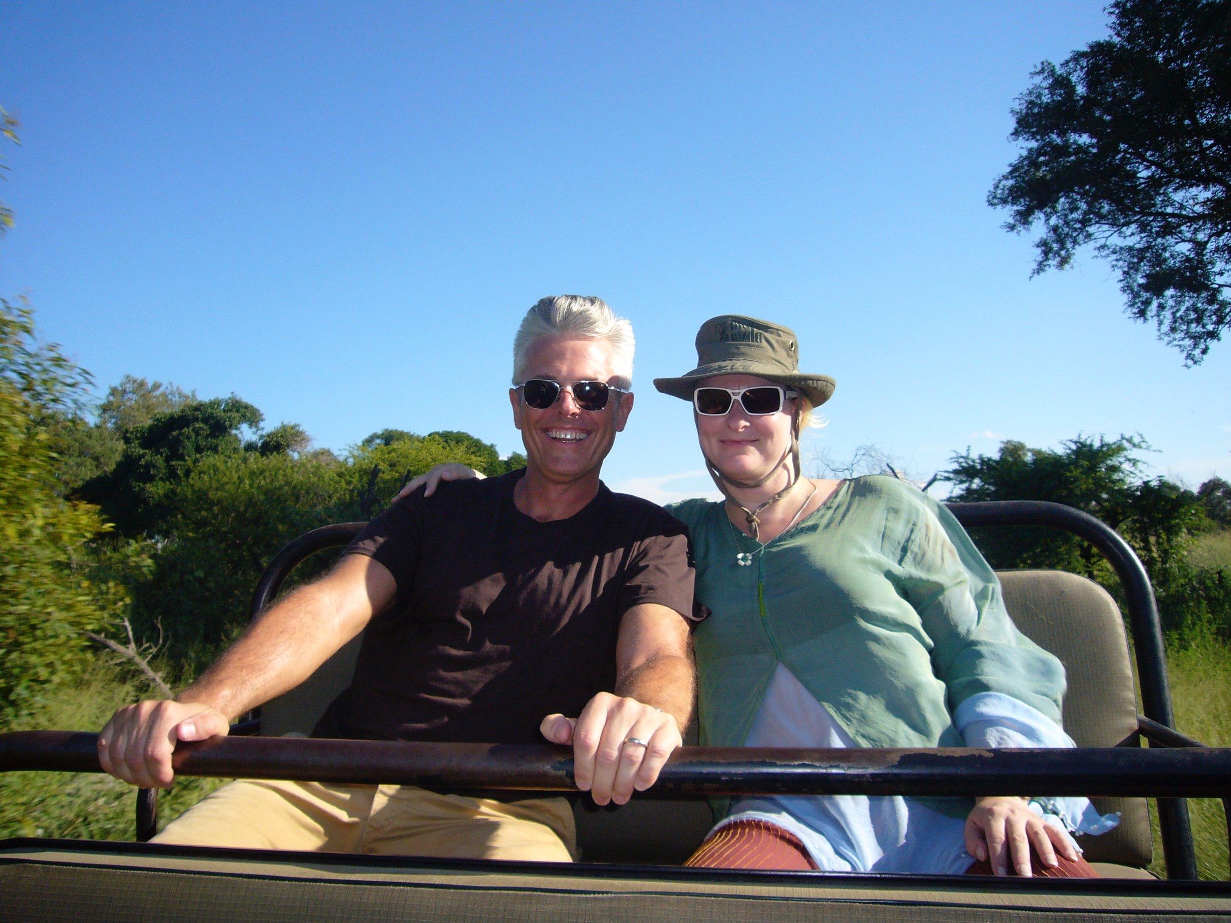Actual safari in Africa, Sean Adams and Marian Bantjes