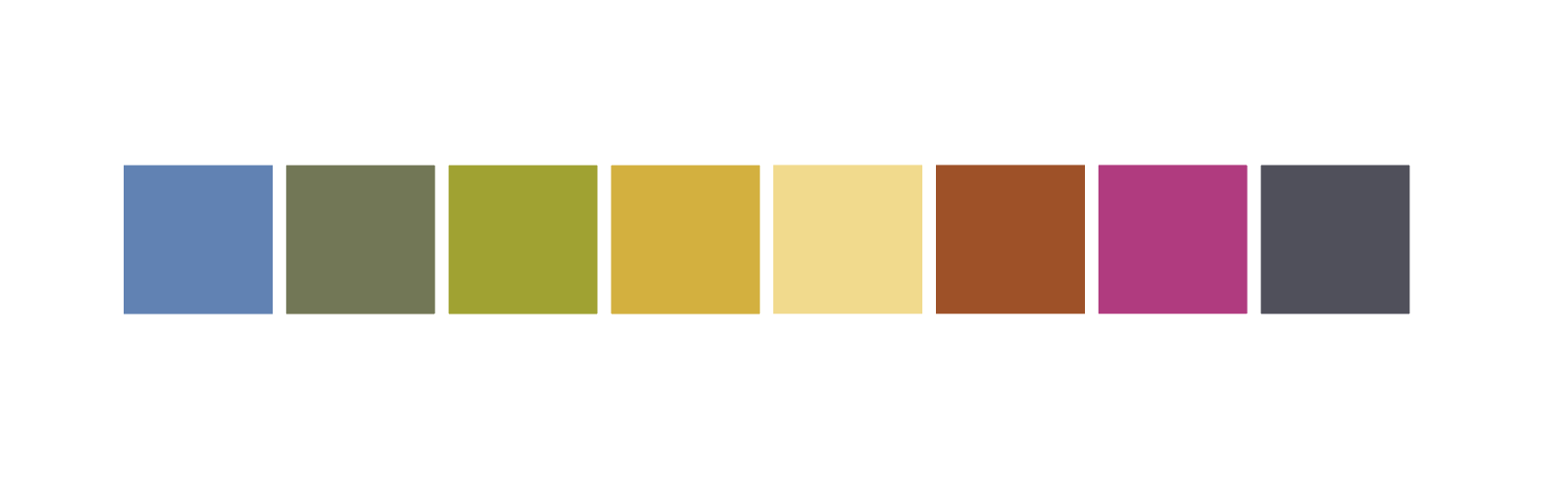 Contemporary Resort color palette, 1972