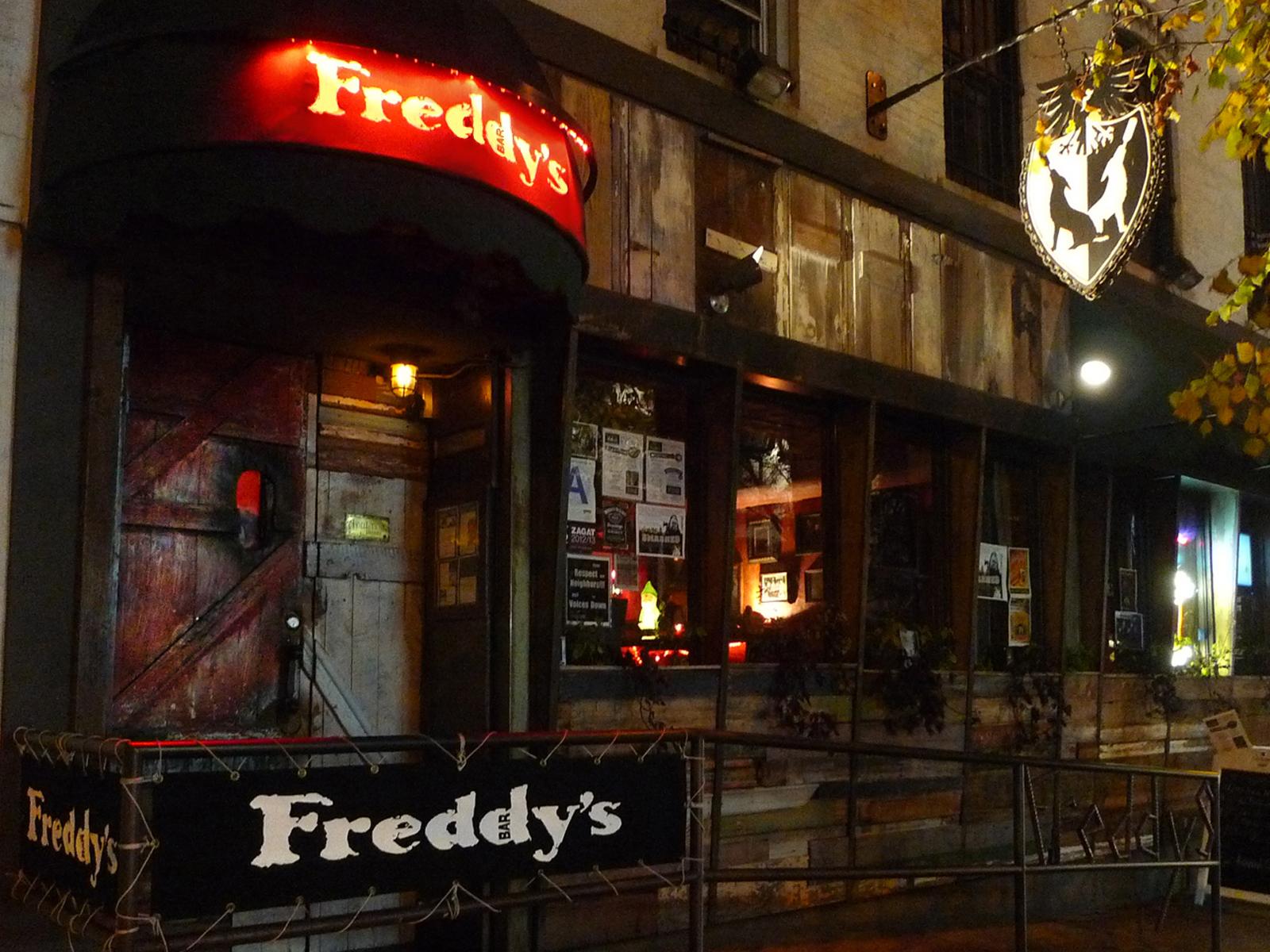 Freddy's Bar in Brooklyn
