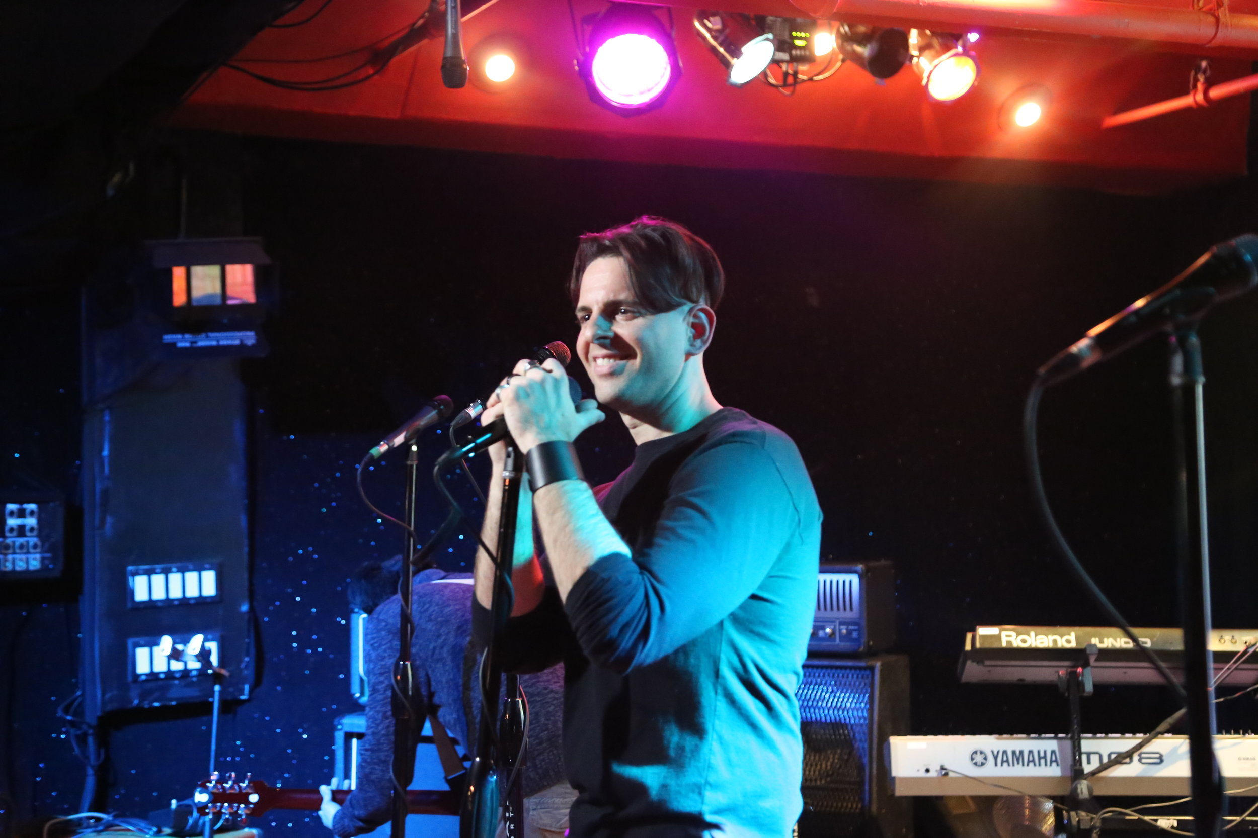 Mike during sound check.JPG