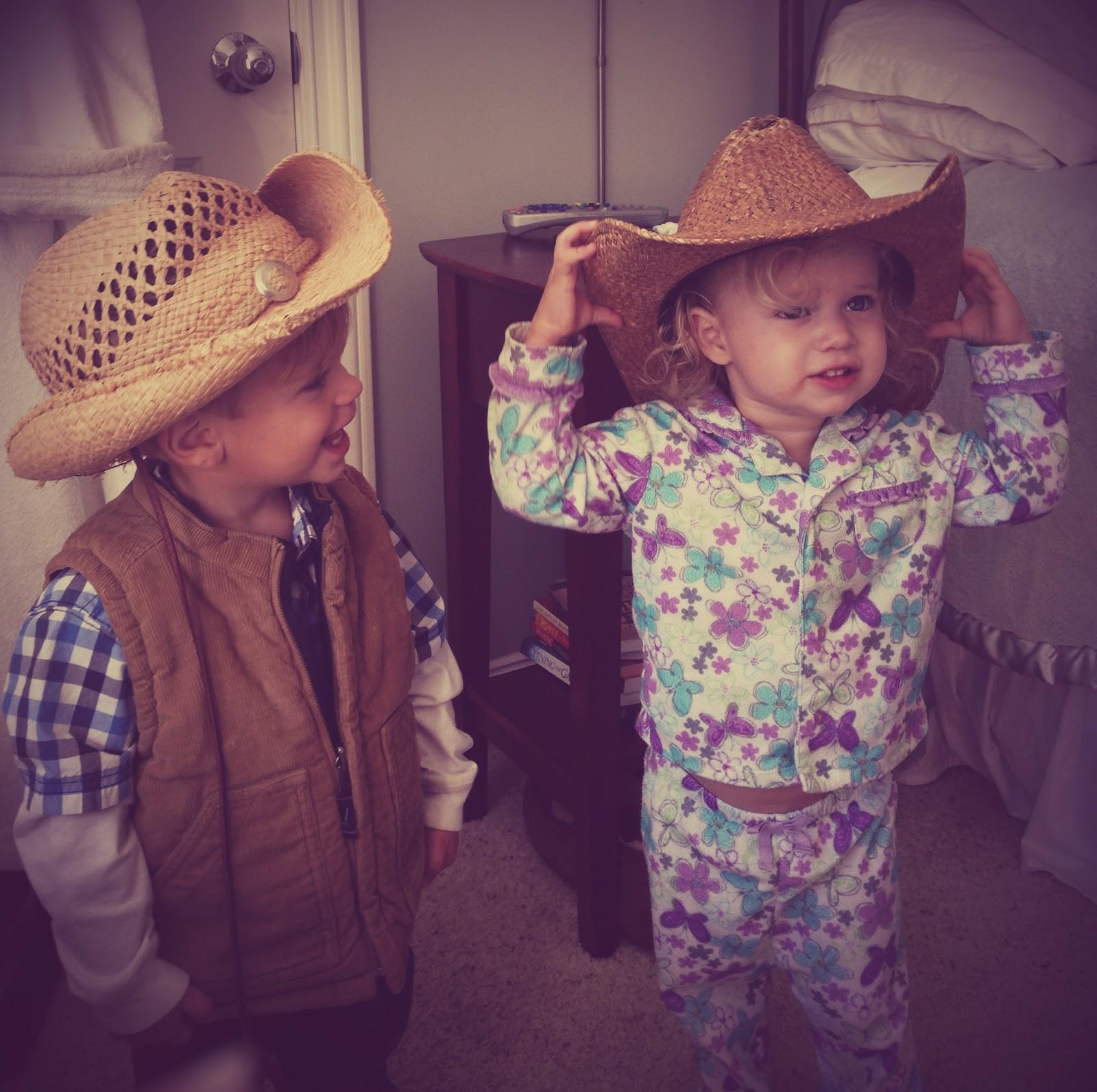Roz & Cylic in cowboy hats.jpg
