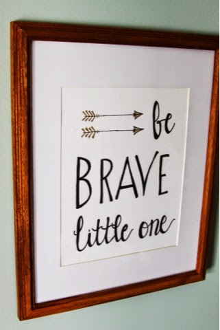 """Be Brave Little One""(8x10)(Frame: 9x11)"