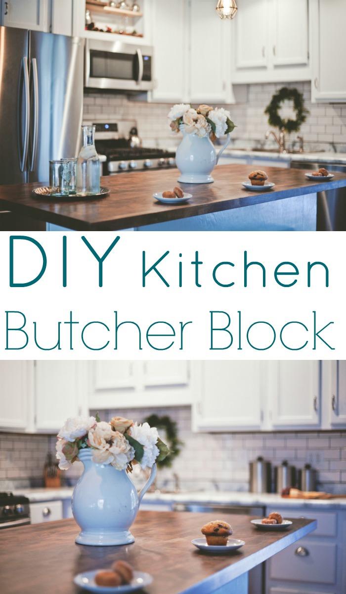 DIY kitchen butcher block