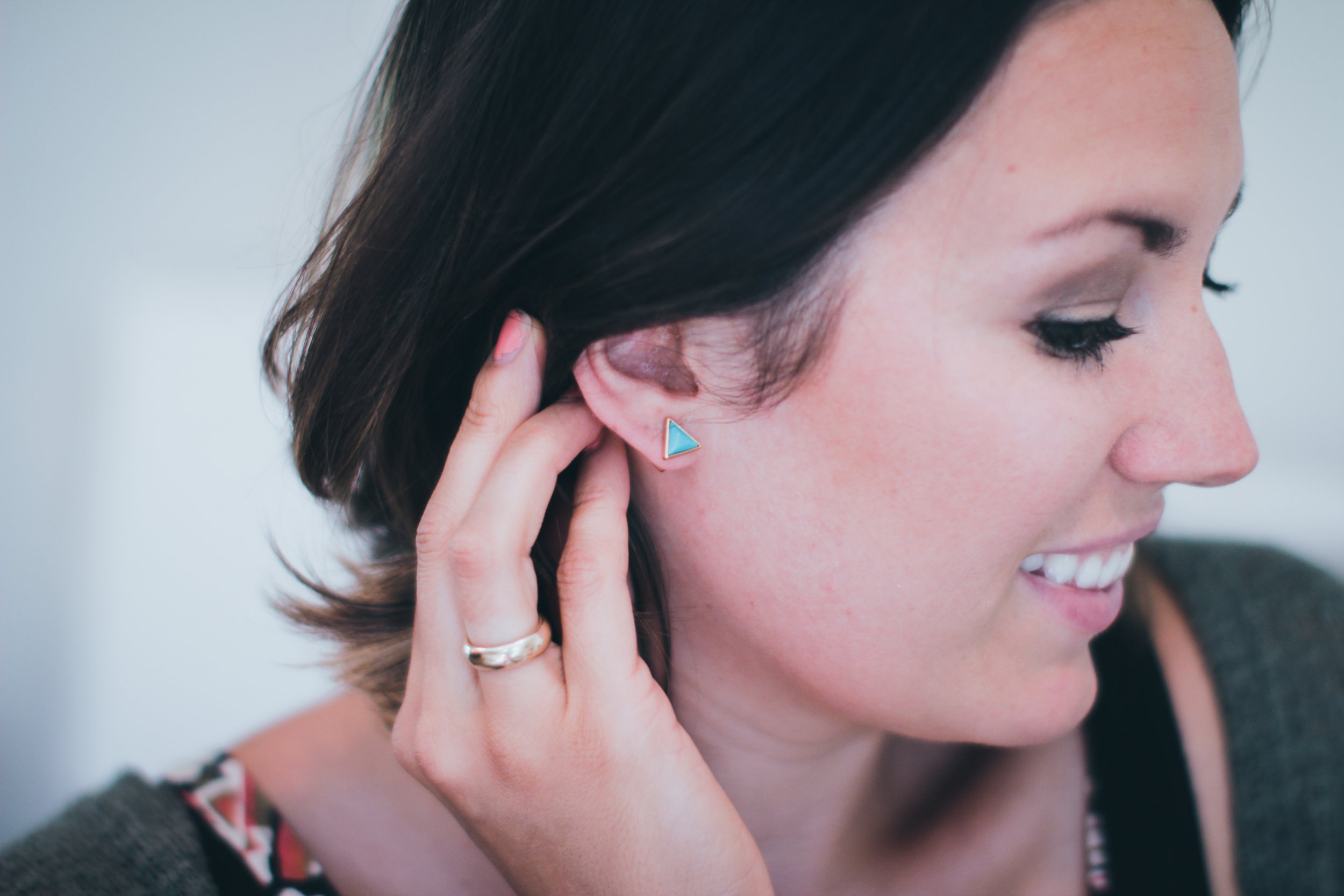 These earrings are so awesome because they are reversible!!!