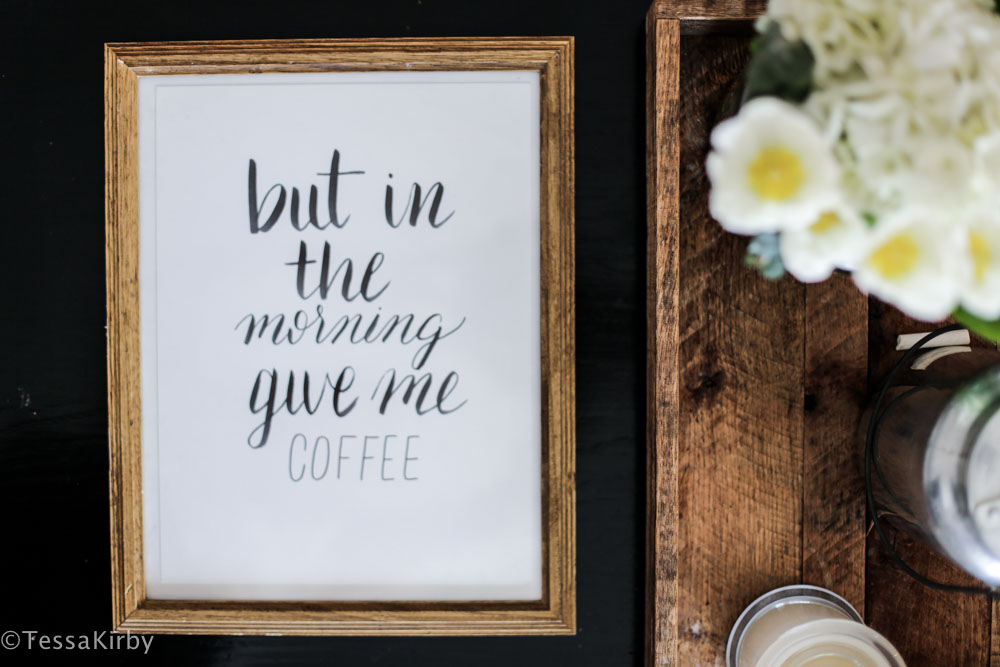but in the morning give me coffee
