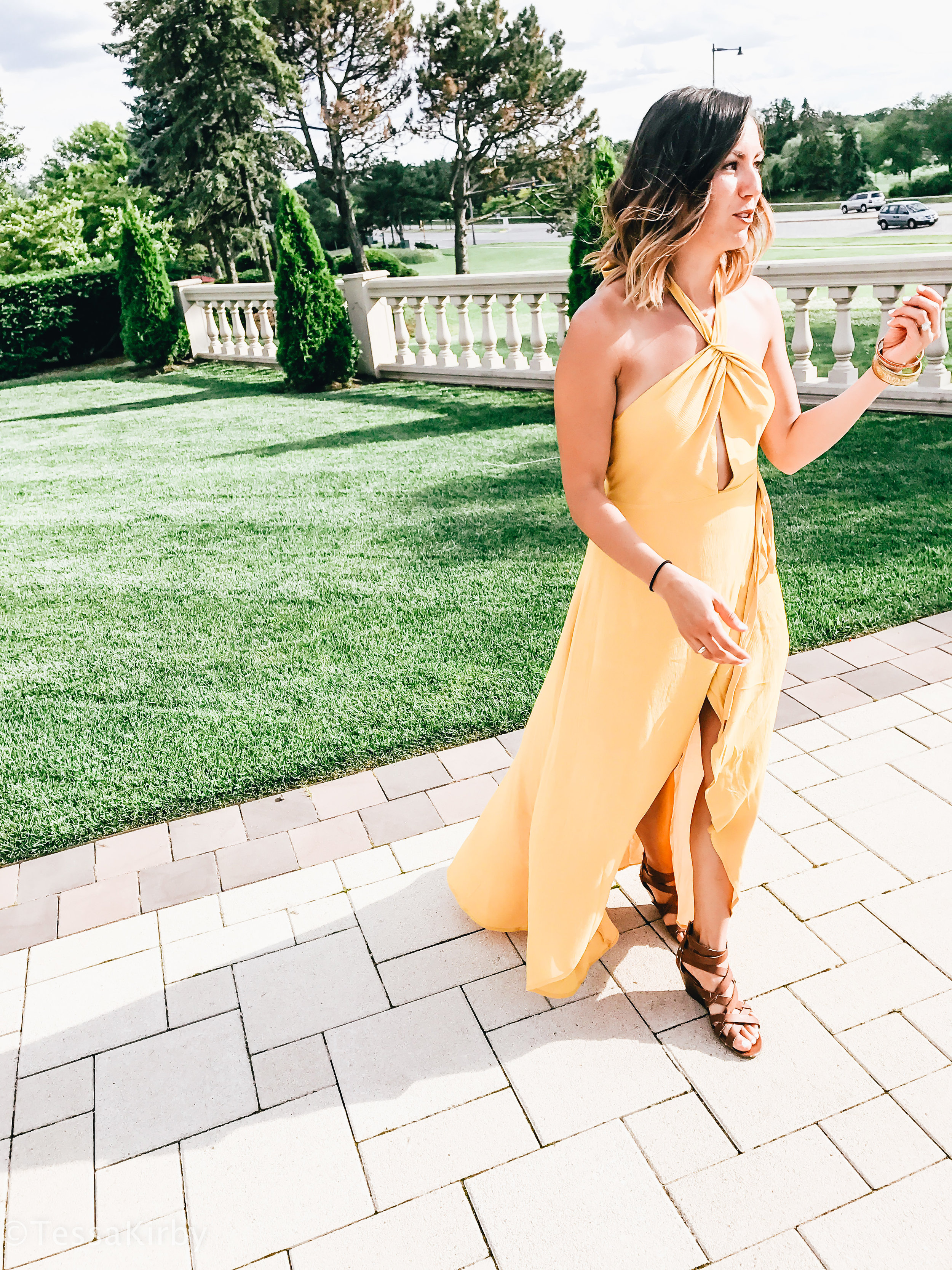 Hello Monday: The Yellow Dress I Wore