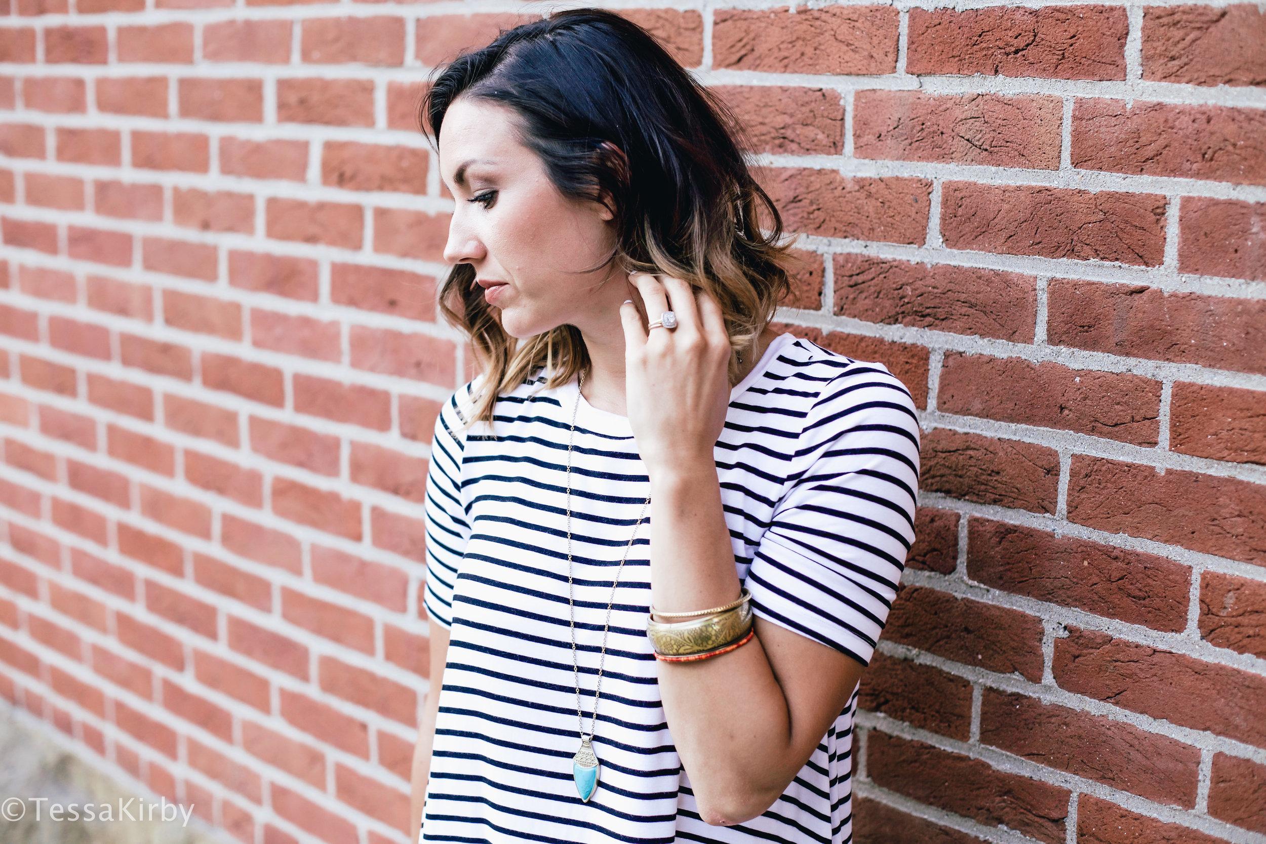 My Go To Stripe T-Shirt Dress