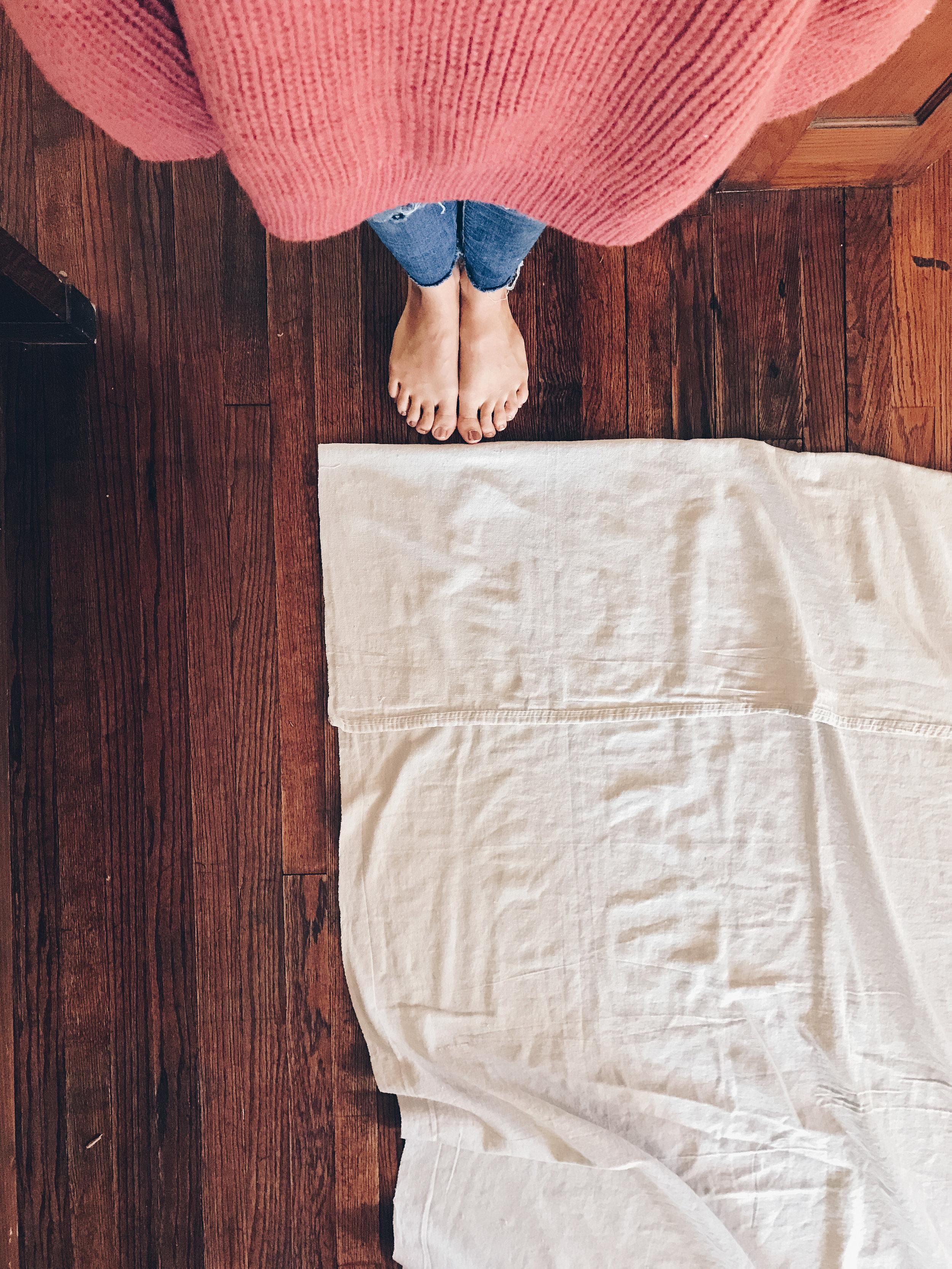 DIY: Canvas Drop Cloth Curtains