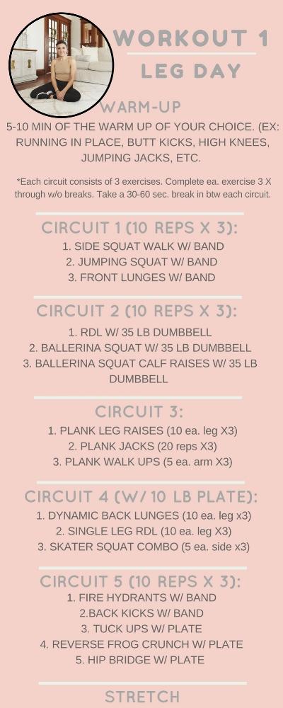 Workout 1: LEG DAY