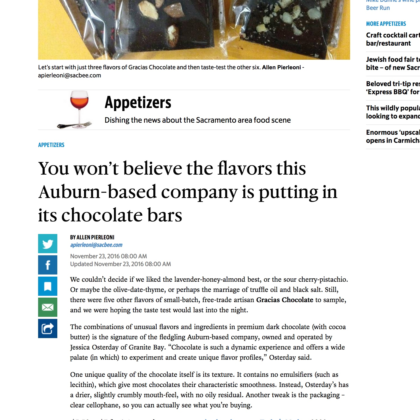 The Sacramento Bee:  You Won't Believe the Flavors...