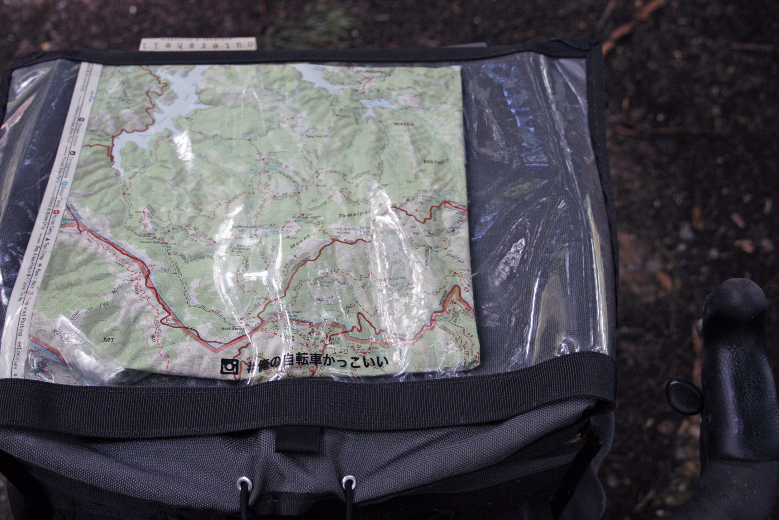Tom Harrison Map in the Rack Bag Clear Top