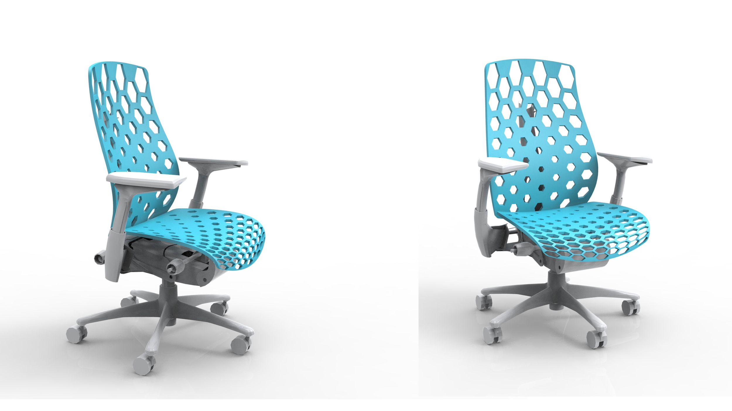 Algorithmically generated chair for a particular user.