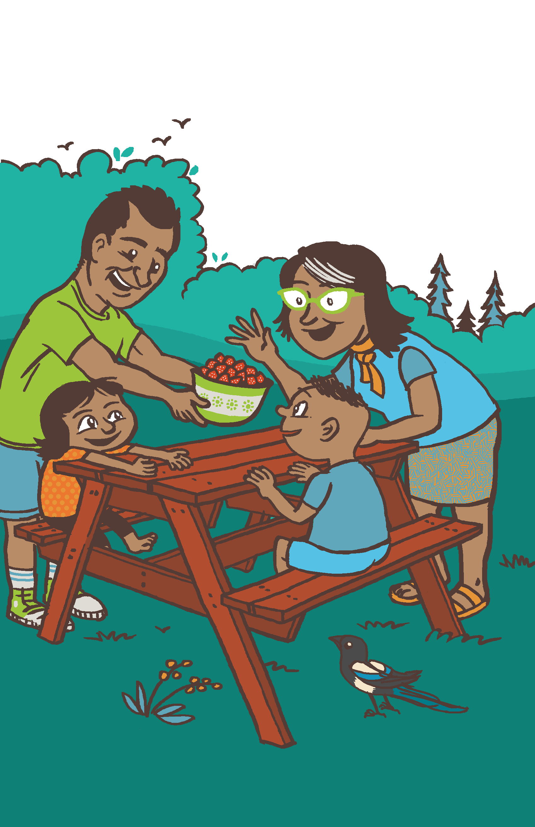 Meal Time Family Time Illustration, 2016  City of Lethbridge