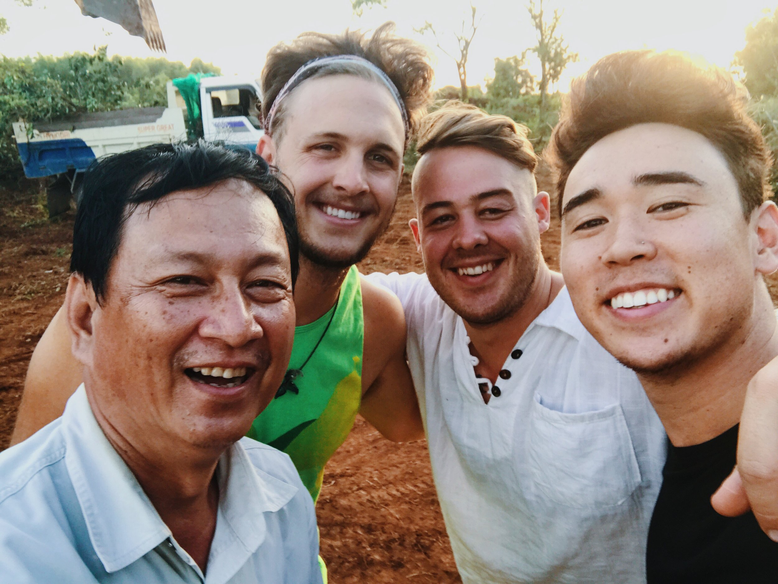 Pastor Hong wanted a selfie to commemorate Day 2 of geo-terracing and grading