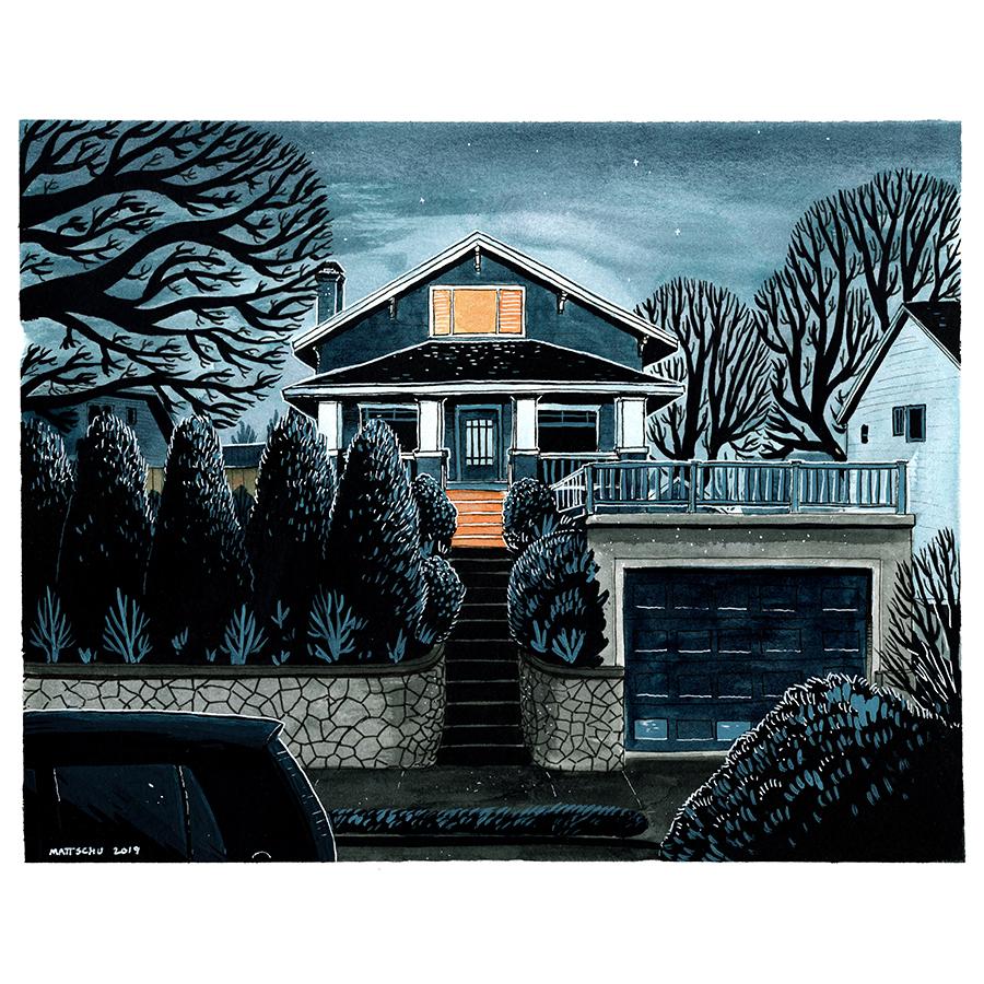 """8x10"""" House Portrait, color"""
