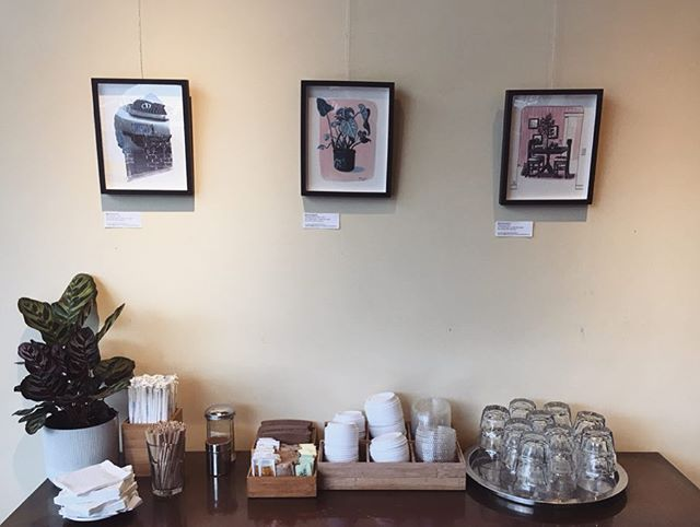 I have some new prints hanging up in @casestudycoffee on NE Sandy! Go check them out if you're in the area. Thanks so much to @_amoonda_i for having me back, and for all her and @iris_long's help installing.  I've added all of these new prints to my Etsy shop as well! You can find the link to that on my profile.  #illustration #drawing #portland #pdxart #ink #artistsoninstagram