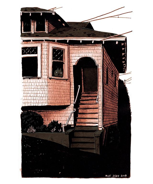 I pass this doorway a lot when I'm out walking. I've always really liked it, so here's a drawing of it.  #house #digitalart #drawing #illustration #pdxart #ink