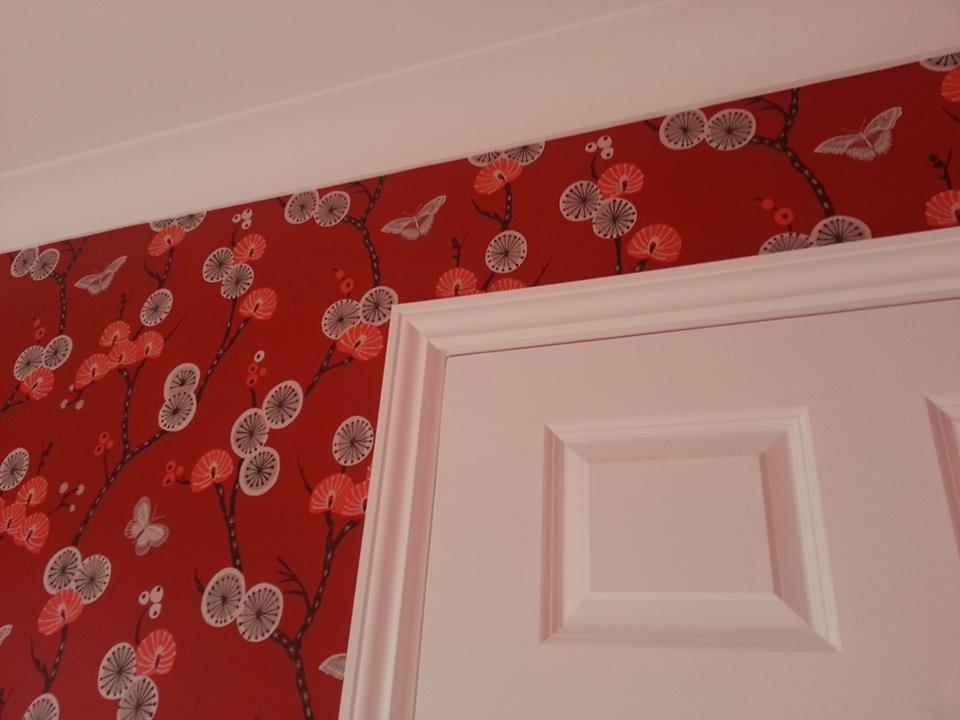 Dining room painting and wallpapering completed in Swindon, Wiltshire