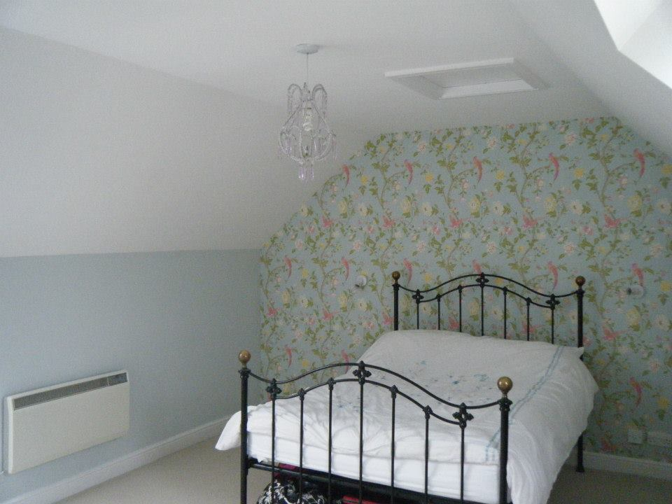 Bedroom painting and wallpapering completed in Swindon, Wiltshire