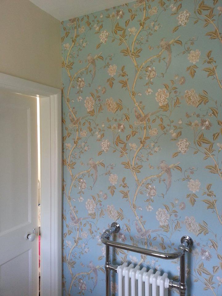Bathroom wallpaper in Hinton Parva, Wiltshire
