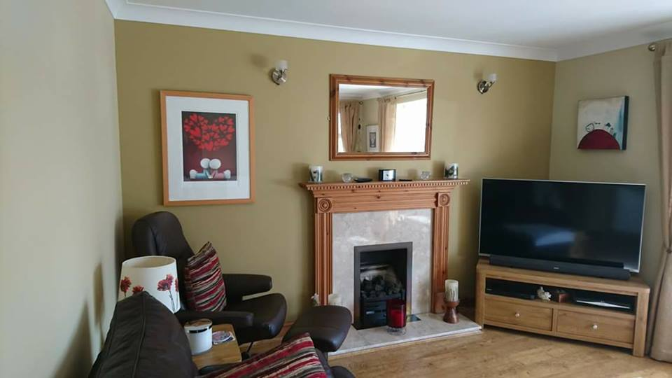 Living room painted in Swindon, Wiltshire