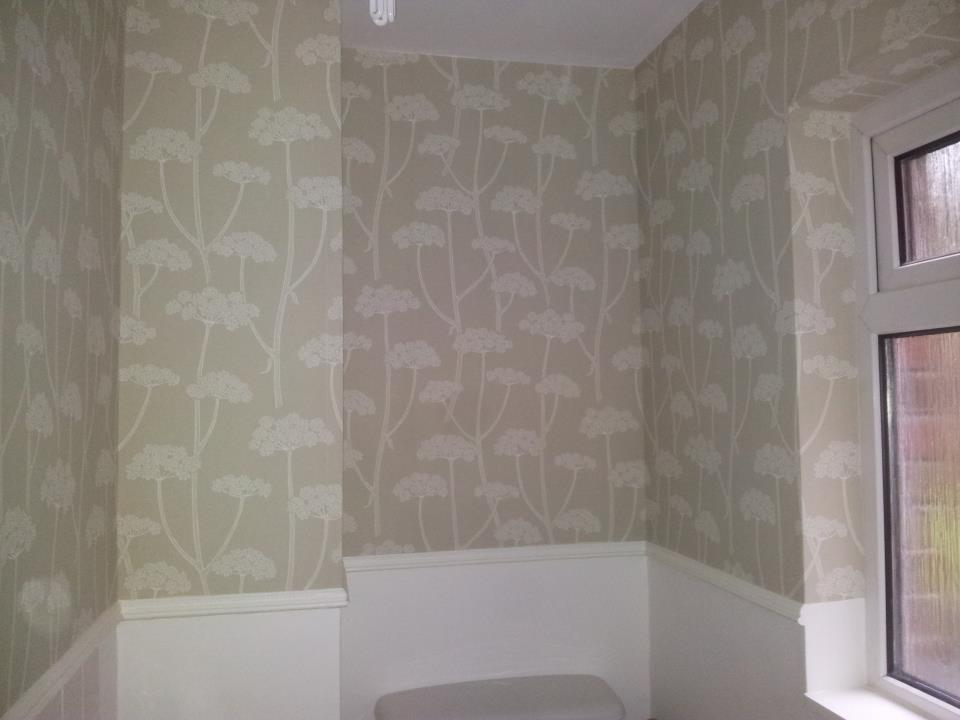 Cloakroom painting and wallpapering completed in Royal Wootton Bassett, Wiltshire