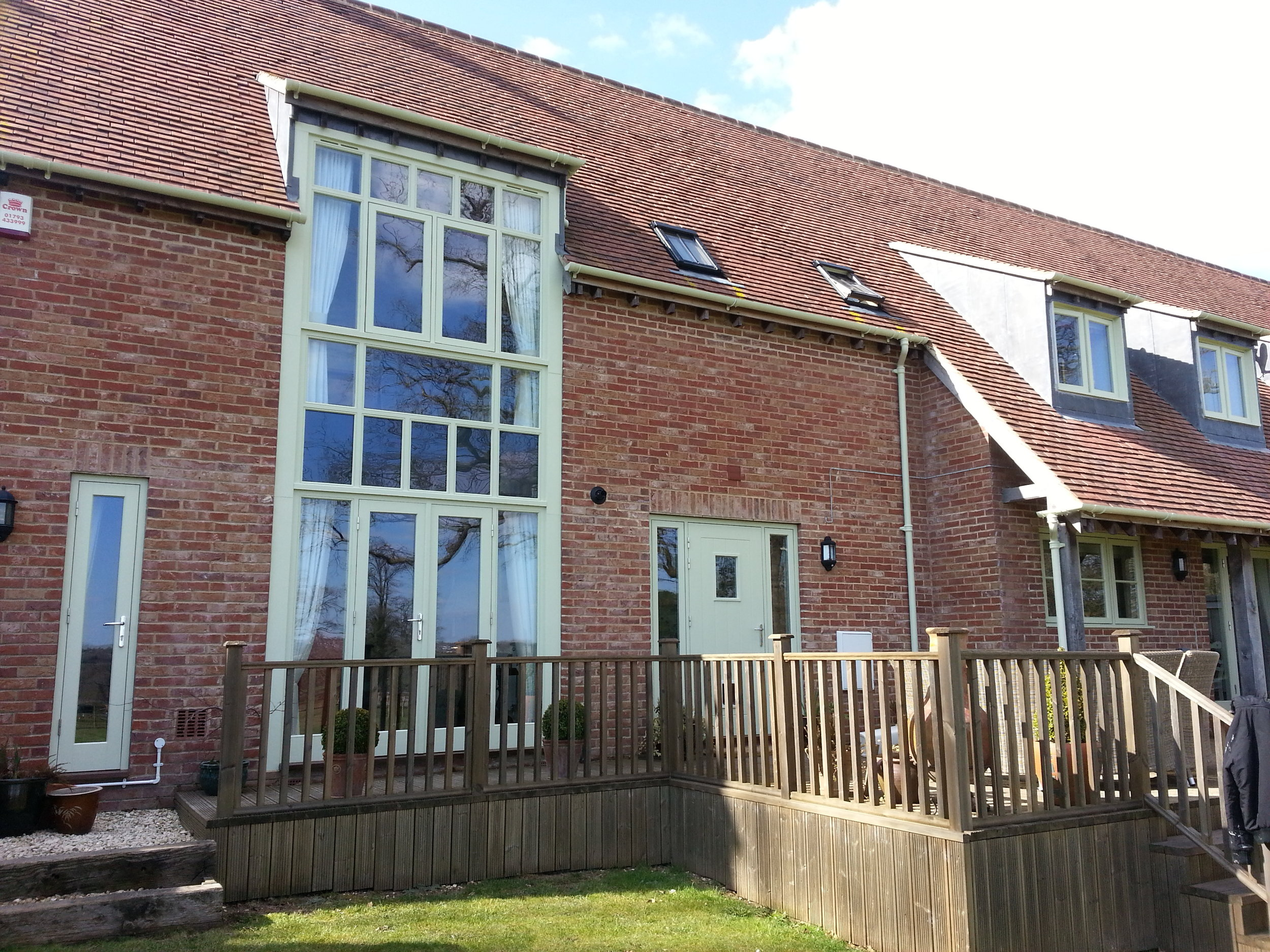 Exterior Window painting and decorating in Hannington, Wiltshire