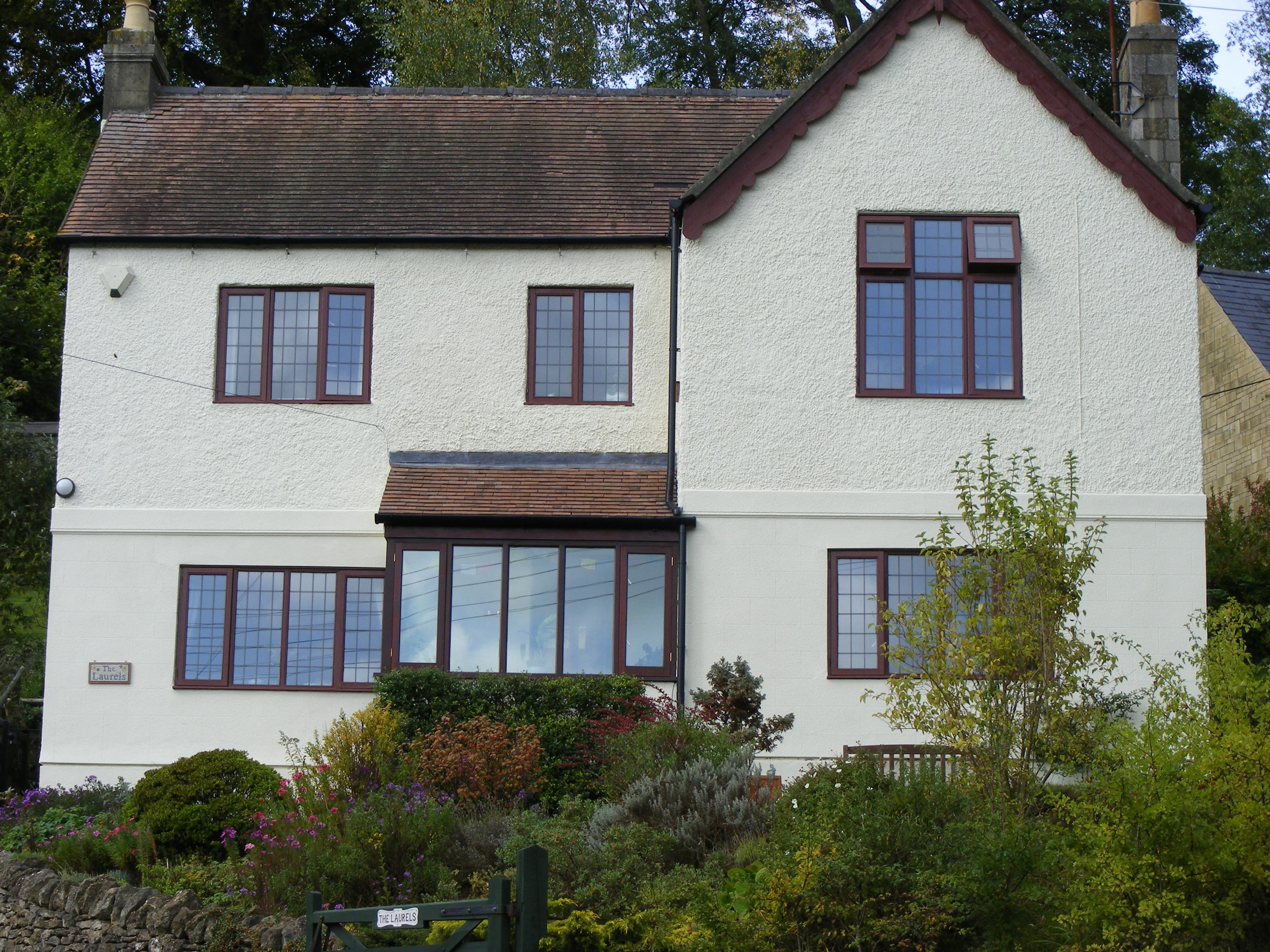Exterior masonry painting in, Stroud, Gloucestershire