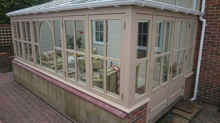 Exterior conservatory decoration in Alton Barnes, Wiltshire