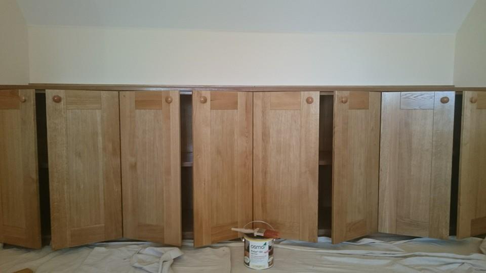 Oak cupboard finished in osmo oil