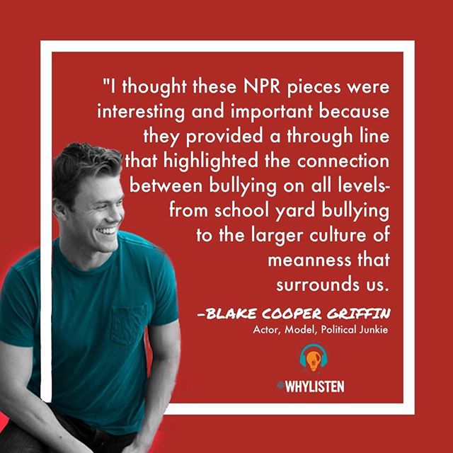 Um, let's talk about how AWESOME this is! @nprgenlisten - the millennial branch of @npr has created a *FREE* downloadable kit to host a discussion on bullying in your own home or community! They include clips of NPR stories about being bullied, being a bully, and the culture of meanness In the world around us and in politics. Visit their page for more details on the listeningkit - we can't wait to try it out! #nprlisteningparty