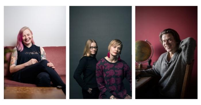 Kuvissa Anni Saastamoinen, Johanna Vehkoo & Emmi Nieminen ja Pete Suhonen.