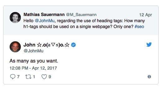 Tweet von Google Veteran John Mueller