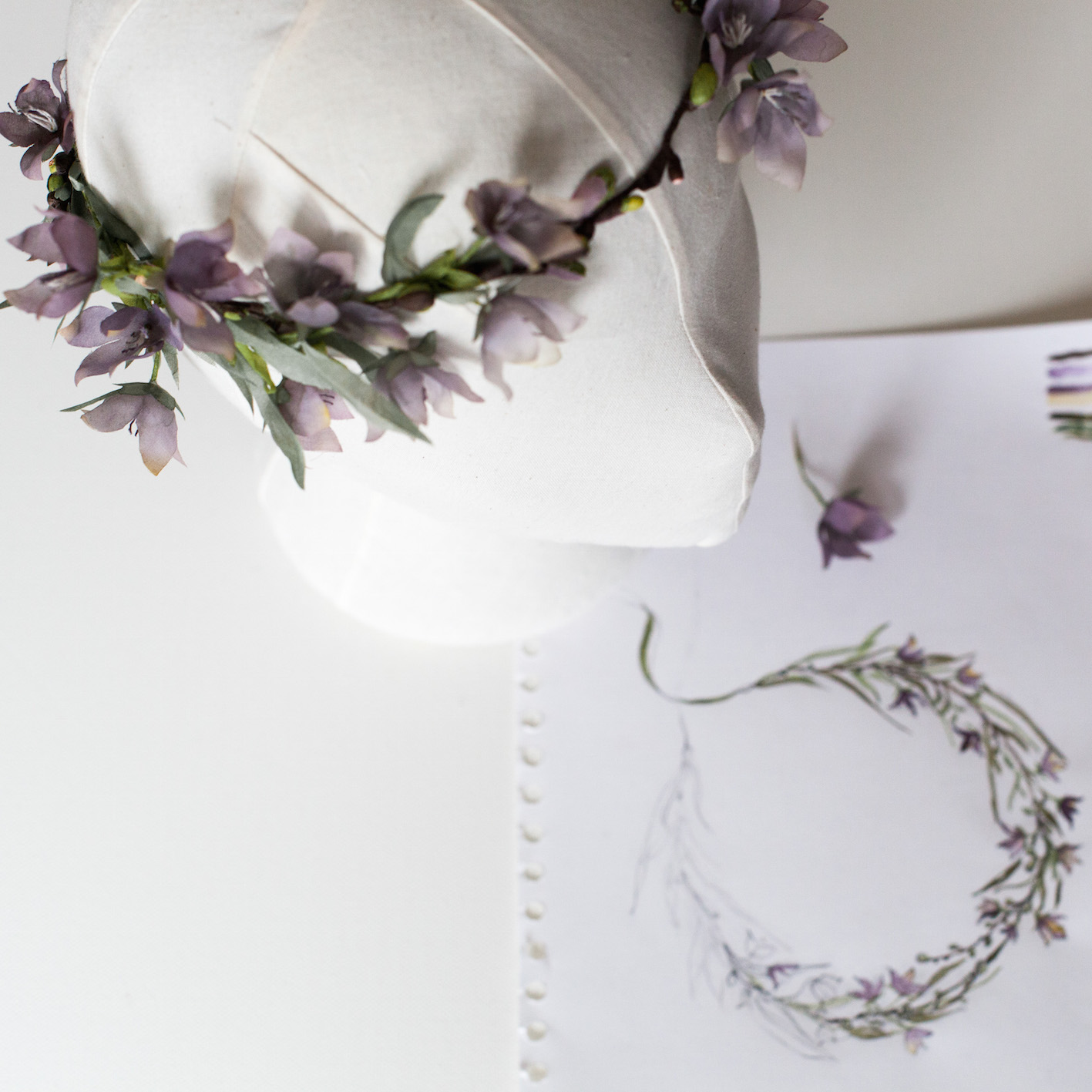 Wildflower-Bridal-Crown-Bespoke-alternative-bride-moody-colours