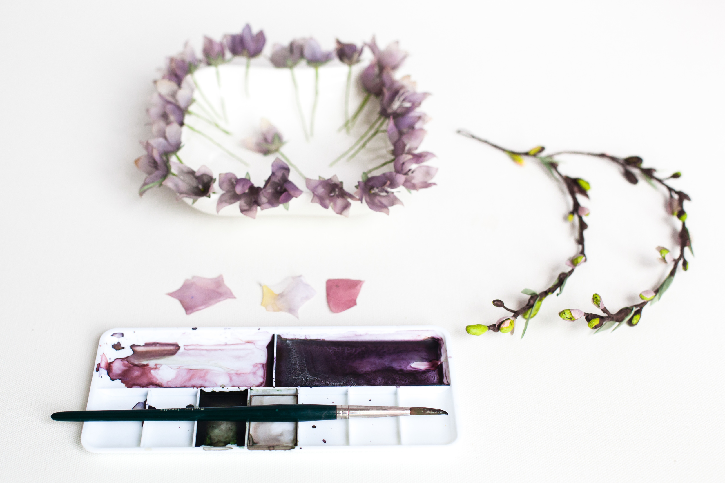 Creative-work-in-progress-handmade-silk-flower-crown